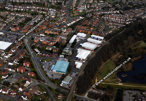 Hollies Park Road Cannock Staffordshire aerial photograph