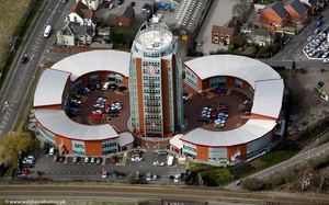Orbital Plaza Hotel Cannock Staffordshire  from the air