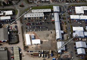 Cannock Staffordshire aerial photograph