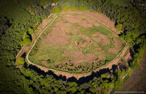 Castle Ring Iron Age Fort Staffordshire aerial photograph
