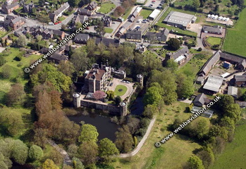 Caverswall Castle Staffordshire aerial photograph