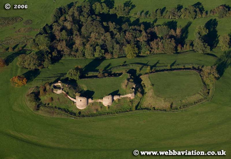 Chartley Castle  Staffordshire aerial photograph