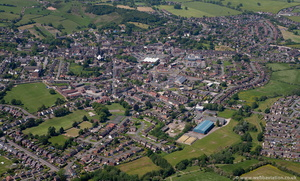 Cheadle Staffordshire  from the air