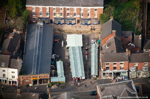 Cheadle  Market Staffordshire  from the air