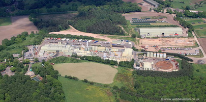 waste disposal site on Bones Lane, Cheddleton Staffordshire  from the air