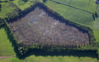Craddocks Moss peat bog  Staffordshire England UK from the air