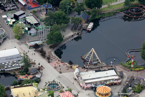 Drayton Manor Theme Park aerial photograph