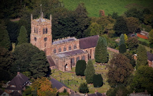 Holy Trinity Church Eccleshall  from the air