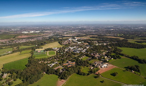 Keele University, Keele, Staffordshire from the air