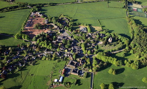 Keele village Staffordshire England UK from the air