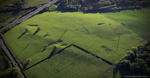 ridge and furrow field patterns  from the air