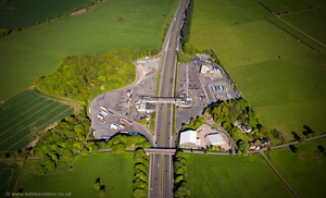 Keele Motorway Services Area aerial photograph