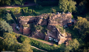 Kinver Edge Rock Houses from the air