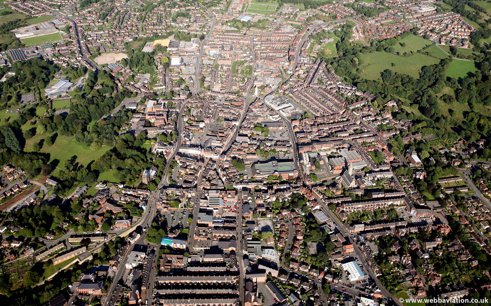 Leek Staffordshire  from the air