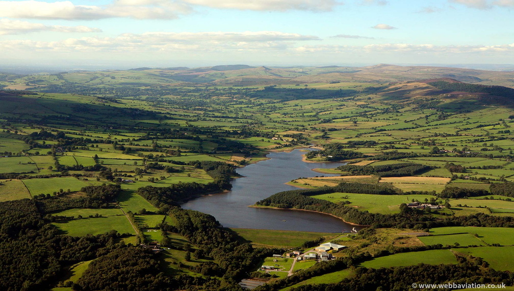 Tittesworth Reservoir near  Leek  Staffordshire  from the air
