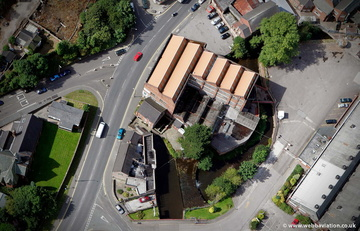 Brindley Water Mill Leek  Staffordshire  from the air