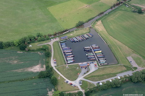 Kings Orchard Marina Lichfield Staffordshire  aerial photograph