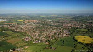 Lichfield Staffordshire  from the air