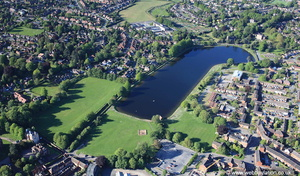 Stowe Pool Lichfield from the air