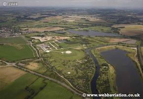 National Memorial Arboretum Staffordshire aerial photograph