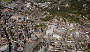 Newcastle-under-Lyme  Staffordshire  from the air