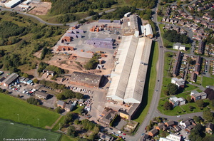 Chesterton Brickworks. Ibstock Brick , Newcastle-under-Lyme  Staffordshire  from the air