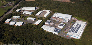 High Carr Business Park Newcastle-Under-Lyme  Staffordshire  from the air