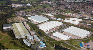Lymedale Business Park, Newcastle-under-Lyme  Staffordshire  from the air