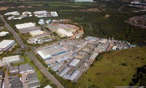 Parkhouse East Industrial Estate , Newcastle-under-Lyme  Staffordshire  from the air