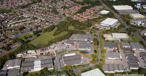 Rosevale Business Park  , Newcastle-under-Lyme  Staffordshire  from the air