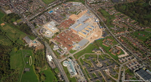 Royal Stoke University Hospital  Newcastle-under-Lyme from the air