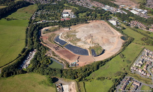 Walleys Quarry landfill Newcastle-under-Lyme Staffordshire  from the air