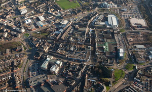 Newcastle-under-Lyme Staffordshire aerial photograph