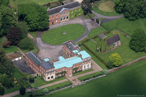 Okeover Hall Staffordshire  from the air