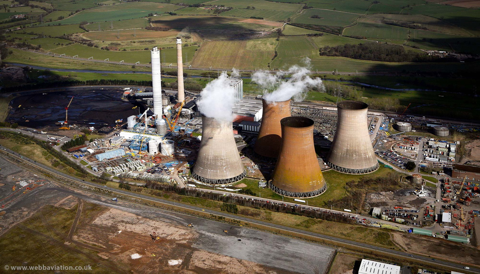 Rugeley Power Station from the air