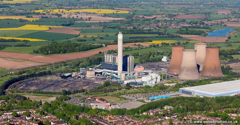 Rugeley Power Station aerial photograph