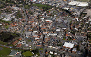 Rugeley town centre   from the air