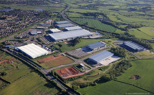 Redhill Business Park, Stafford  from the air