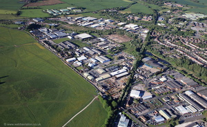 St. Albans Road Industrial Estate, Stafford  from the air
