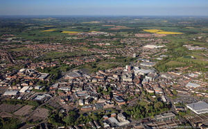 Stafford England UK from the air