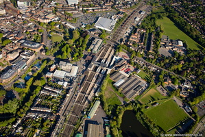 Stafford Station aerial photograph