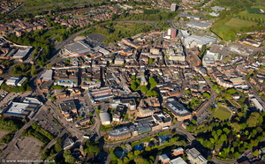 Stafford UK aerial photograph