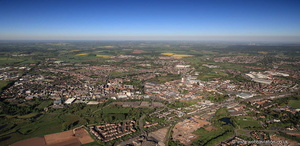 Stafford England UK panorama   from the air