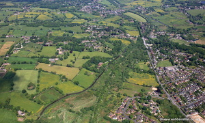 Caldon Canal running through Stockton Brook Staffordshire  from the air