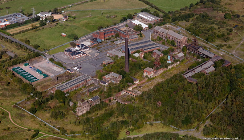 Chatterley Whitfield Colliery,Chell  Stoke-on-Trent  Staffordshire from the air