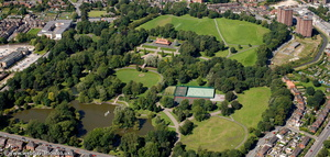 Hanley Park Stoke-on-Trent Staffordshire aerial photograph