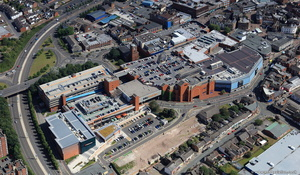 intu Potteries shopping centre Hanley   Stoke-on-Trent from the air