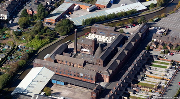 Middleport Pottery, Stoke-on-Trent from the air