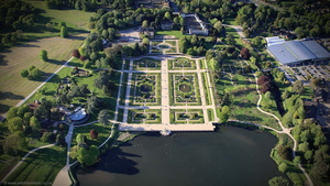 Trentham Gardens from the air