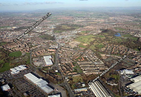 Etruria Stoke-on-Trent Staffordshire aerial photograph